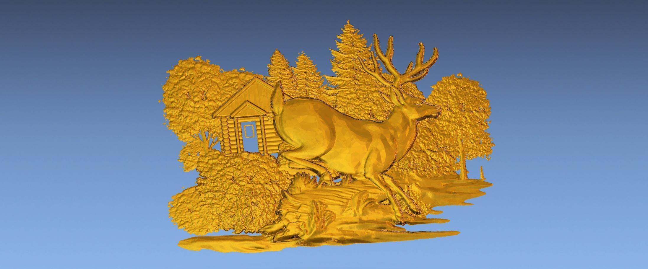 6.jpg Download free STL file 3D STL SCARED DEER • 3D print model, ALPHA_MENA
