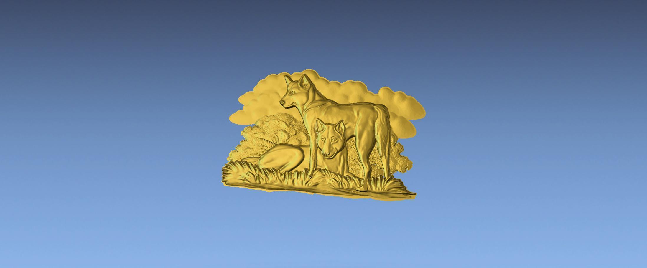 1.jpg Download free STL file AUSTRALIAN DINGOS 3D STL FILE • 3D printer design, ALPHA_MENA