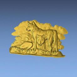 1.jpg Download free STL file AUSTRALIAN DINGOS 3D STL FILE • 3D printer design, ALPHA_MENA