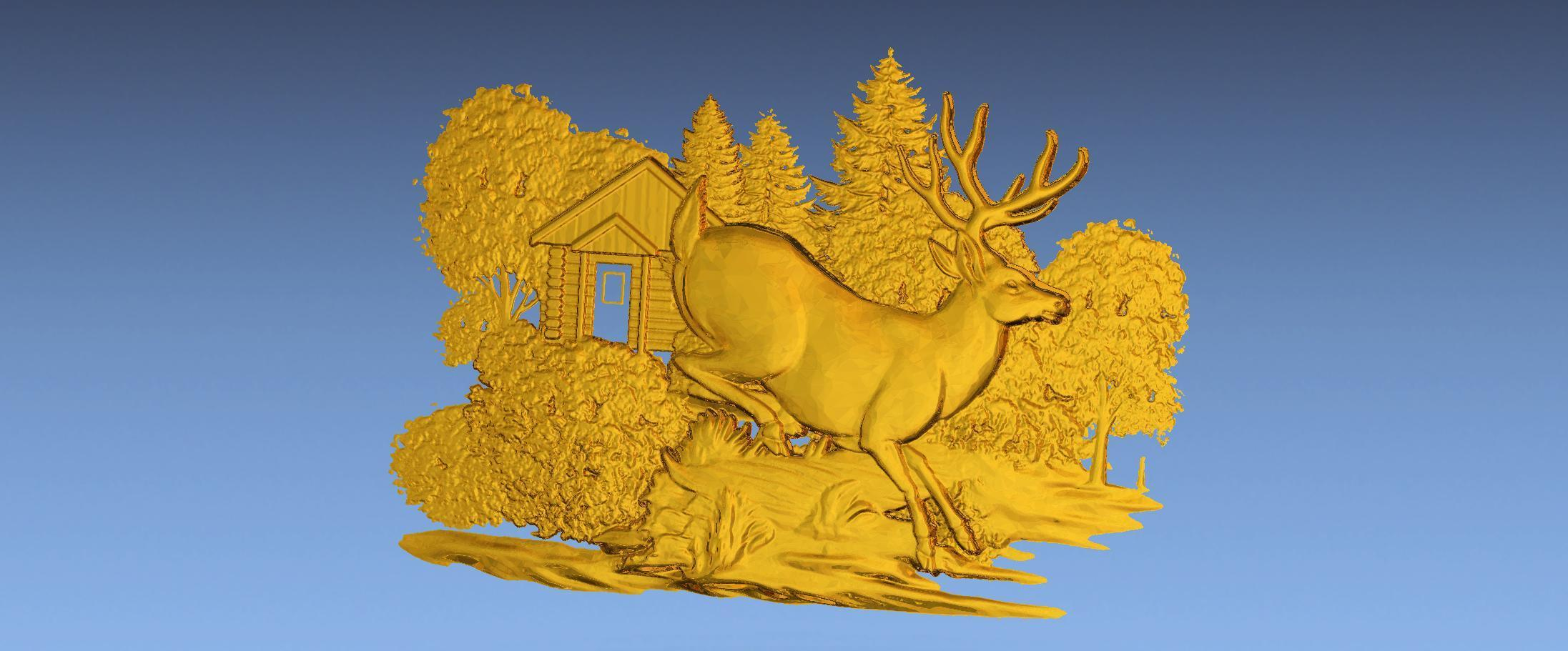4.jpg Download free STL file 3D STL SCARED DEER • 3D print model, ALPHA_MENA