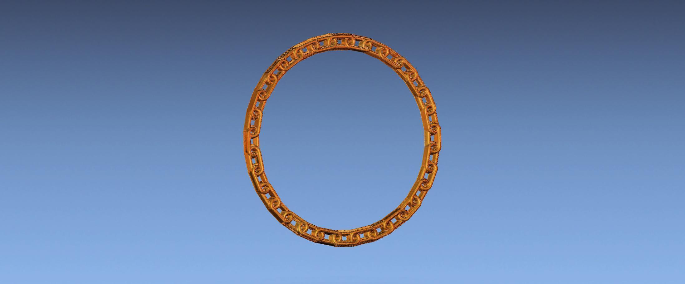 2.jpg Download free STL file chain border 3d stl file • 3D printing design, ALPHA_MENA
