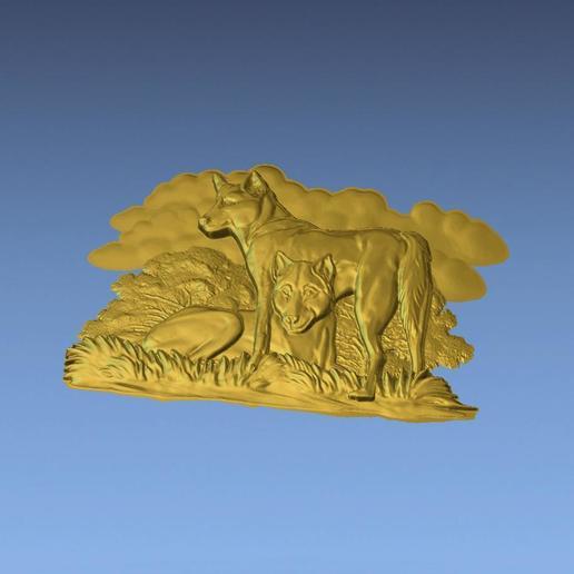 5.jpg Download free STL file AUSTRALIAN DINGOS 3D STL FILE • 3D printer design, ALPHA_MENA