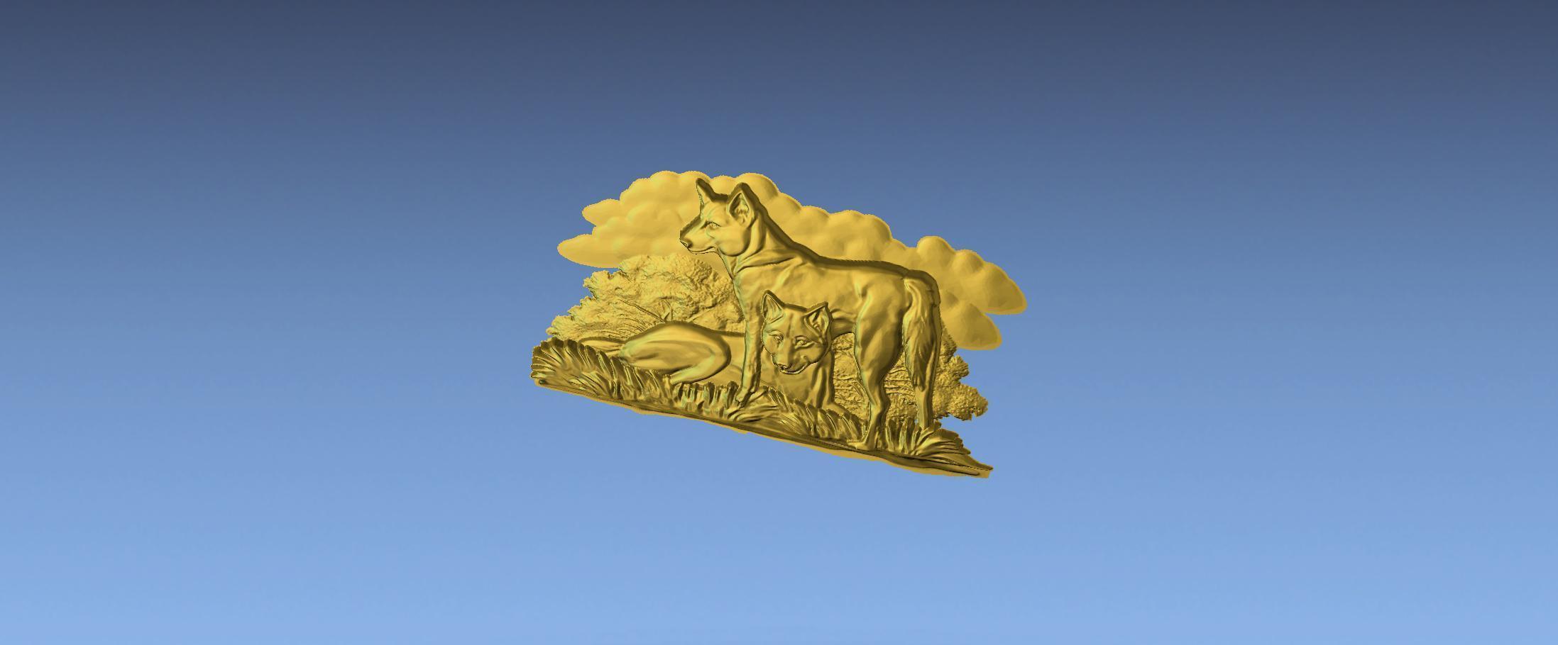 4.jpg Download free STL file AUSTRALIAN DINGOS 3D STL FILE • 3D printer design, ALPHA_MENA