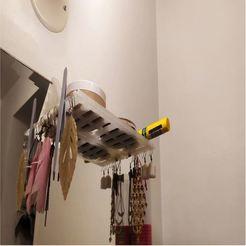 shelf.jpg Download free STL file Mirror shelf bathroom - Étagère pour miroir • 3D print model, djpostka