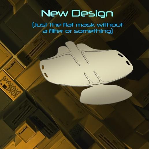 New design.jpg Download free STL file Mask 3D NanoHack Improved (MassProductionVersion) • 3D printing model, Tonystark112