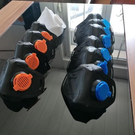 IMG_20200327_120245.jpg Download free STL file Mask 3D NanoHack Improved (MassProductionVersion) • 3D printing model, Tonystark112