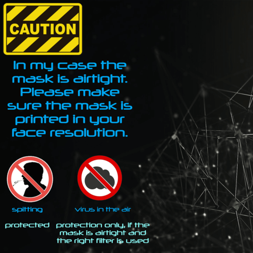 Hinweise.png Download free STL file Mask 3D NanoHack 2.0 • 3D printer design, Tonystark112