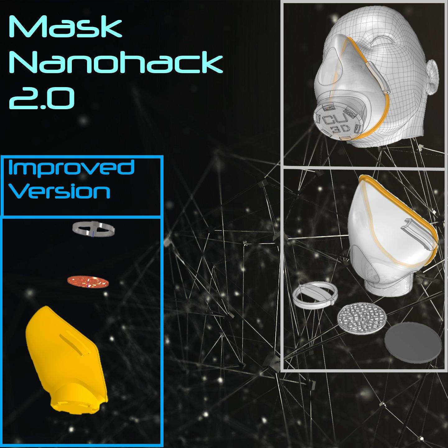 Wallpaper.png Download free STL file Mask 3D NanoHack 2.0 • 3D printer design, Tonystark112