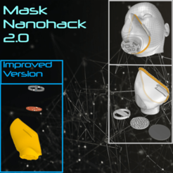 Download free 3D model Mask 3D NanoHack 2.0, Tonystark112
