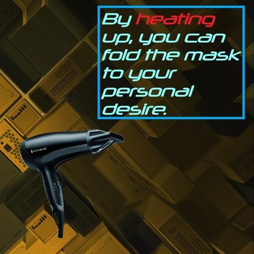 heating up.jpg Download free STL file Mask 3D NanoHack Improved (MassProductionVersion) • 3D printing model, Tonystark112