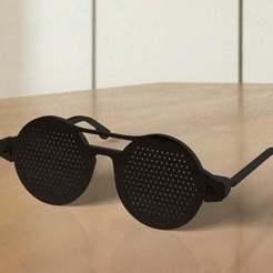 Download free 3D printer designs Train your eyes - Pinhole glasses, Ndreu
