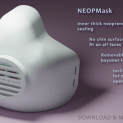 Mod_small.png Download free STL file [NEOPMask]  - Respirator mask with removable filter • 3D printing object, Ndreu
