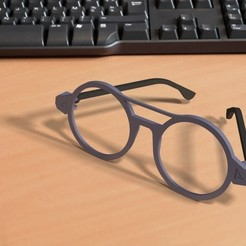 Download 3D printer designs Vintage glasses - 3D printable, Ndreu