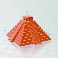 Sin título-1.jpg Download free STL file chichen pyramid • 3D printing template, rcolash10