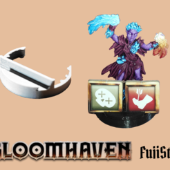 gloom2.png Download free STL file Gloomhaven discreet conditions tokens support for characters miniatures • 3D printer design, JeanSeb