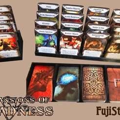 Descargar archivos 3D gratis Bandeja de tarjetas para Mansiones de la Locura V2, JeanSeb