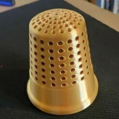 Sans-piques.jpg Télécharger fichier STL Dé à coudre porte pique / thimble spade holder • Modèle imprimable en 3D, French-Designer