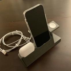 IMG_0031.JPEG Télécharger fichier STL IPhone 12/12Pro Ultimate Dock (AirPod Pro version) • Design imprimable en 3D, Shodan
