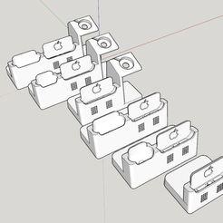 FullPack.JPG Télécharger fichier STL IPhone 12/12Pro Ultimate Dock - Full Pack • Objet imprimable en 3D, Shodan