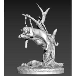 panter.jpg Télécharger fichier STL gratuit Panthère • Objet pour imprimante 3D, Ivan3d