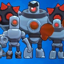 Descargar Modelos 3D para imprimir gratis los 4 robots de Brawl Star, LEGENDS