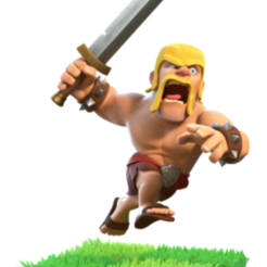 Download free 3D printing designs barbaric clash of clans, LEGENDS