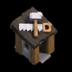 Télécharger fichier impression 3D gratuit cabane d'ouvrier clash of clan, LEGENDS