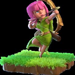 Descargar archivos 3D gratis choque del clan archer, LEGENDS