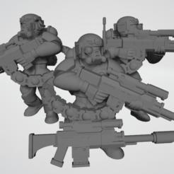 SniperTeamAssemble.png Download free STL file Hostile Environment Guardsmen - Sniper Squad • 3D print object, Cikkirock