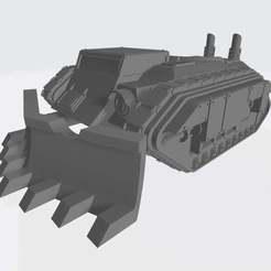 """Télécharger fichier STL gratuit Armée Interstellaire - Plateforme d'armes """"Trench Raider"""" (raiders de tranchées) • Objet imprimable en 3D, Cikkirock"""