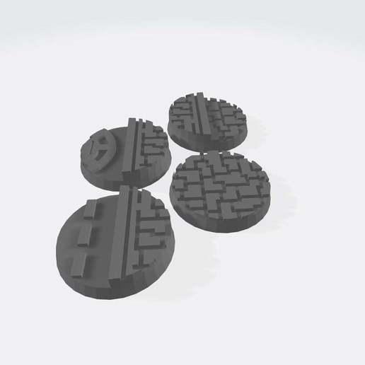 Download free 3D printing models 25mm Bases V2: Cityscape, Cikkirock
