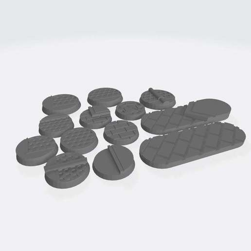 Bases_V1_All.jpg Download free STL file 25mm Bases V1: Scifi / Industrial / Cityscape. • Template to 3D print, Cikkirock