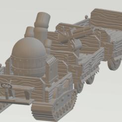 DragonHunterSteampunkCarriage.png Télécharger fichier STL gratuit Chasseur de dragon Steampunk Battlewagon • Modèle imprimable en 3D, Cikkirock