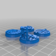 Download free 3D printer designs 25mm Bases v2: Space Ship/industrial, Cikkirock
