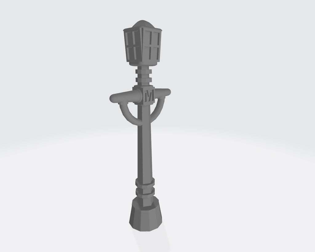 Victorian_Street_Light.jpg Télécharger fichier STL gratuit Lampadaire victorien (à l'échelle 28 mm) • Design à imprimer en 3D, Cikkirock