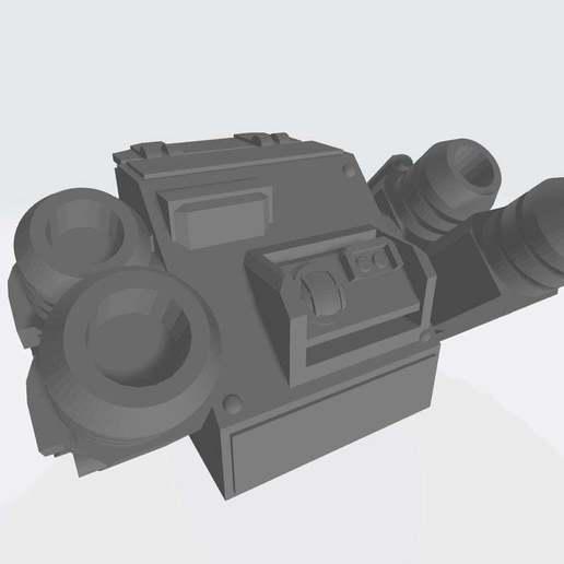 Wyvern_Turret.jpg Download free STL file Interstellar Army - Quad Mortar and Quad Cannon • 3D printing model, Cikkirock