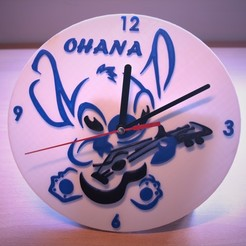 1.jpg Download STL file Stitch wall clock with guitar • 3D printable model, kianeos