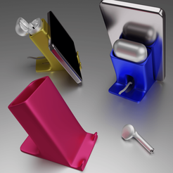 Support Airpods2 smartphone.png Download free STL file Airpods 2 Smartphone support • 3D printing model, Xdorf