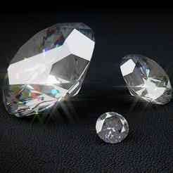 Diamond round 1_1.png Télécharger fichier OBJ gratuit Diamant rond brillant • Plan pour imprimante 3D, Xdorf