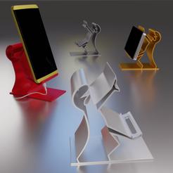 Impresiones 3D gratis Soporte para Smartphone La linea N°2, Xdorf