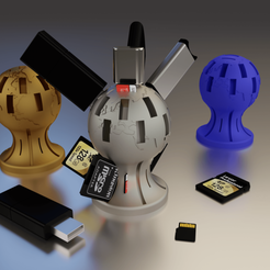 Support USB SD HD.png Download free STL file USB / SD / µSD key organizer • 3D printable model, Xdorf