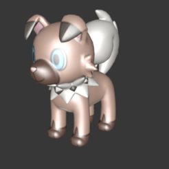 Imprimir en 3D gratis #744 Rockruff (Pokemon), Ci_Francy