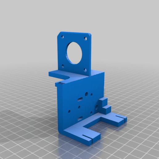 Modificado_MGN12H_Adapter_v2.1.png Télécharger fichier STL gratuit Ender 3 Extrusion directe avec BMG et guide linéaire • Objet imprimable en 3D, nitoguz