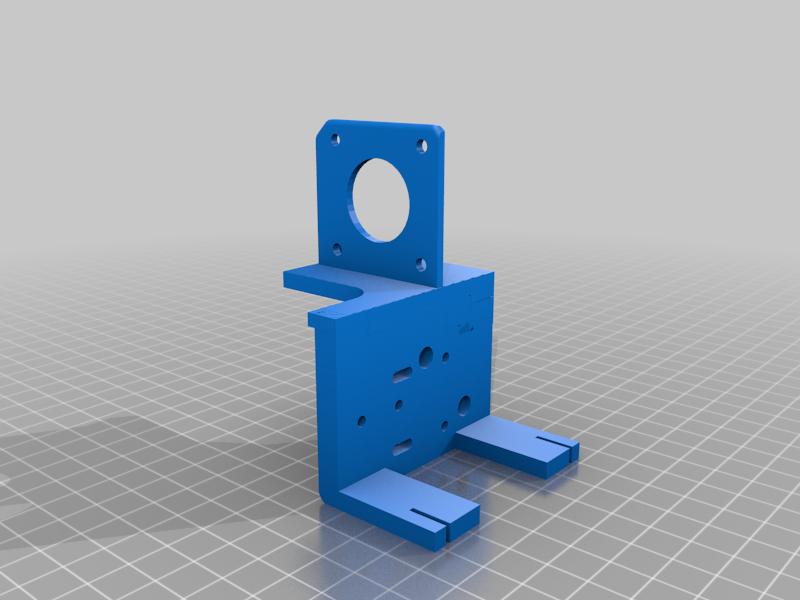 Modificado_MGN12H_Adapter.png Télécharger fichier STL gratuit Ender 3 Extrusion directe avec BMG et guide linéaire • Objet imprimable en 3D, nitoguz