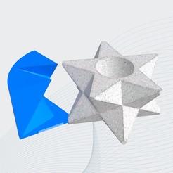 2d.jpg Download free STL file Star vase mold / Molde para maceta estrella • 3D printer object, AgustinVillarino