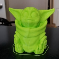 Download free STL file Baby Yoda (Easy print no support) • 3D printing object, psulion32