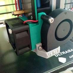 Download free 3D printer model E3D V6 (Clone) 40mm fan mount, bbleimhofer
