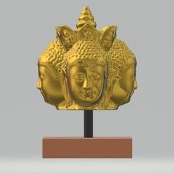 Descargar modelos 3D Cabeza de Buda única Estilo de Arte Tailandés, samlyn696