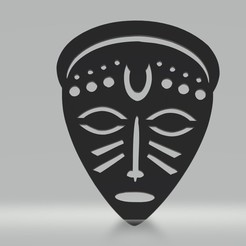 tm4 b.jpg Download 3MF file African mask Wall decoration Female • 3D printable object, samlyn696