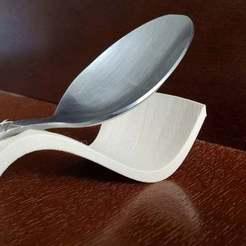 20200503_162037.jpg Download free OBJ file Spoon Support Ver2 Kitchen Table Tea Coffee Item • 3D print template, samlyn696